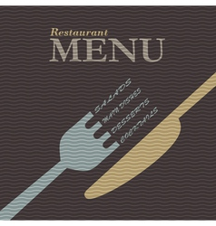 Stylish restaurant menu design vector image