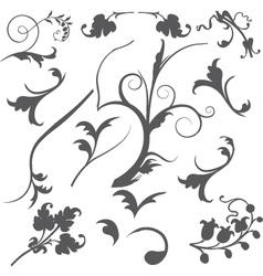 swirls vector image vector image