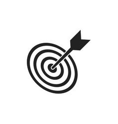 Target aim flat icon darts game symbol logo vector