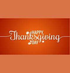 thanksgiving line vintage lettering background vector image