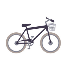 White background with sport bike with basket vector