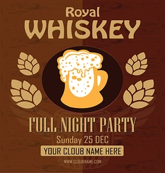 Royal whiskey gold flyer vector