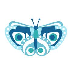 Cute blue butterfly vector