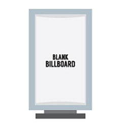 Single blank advertising billboard isolated on vector