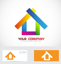Colors real estate logo icon vector