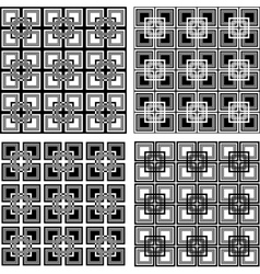 checkered patterns vector image
