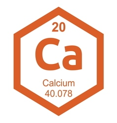 Periodic table calcium vector