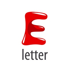 Cartoon logo red letter e vector
