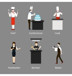 Catering staff vector image
