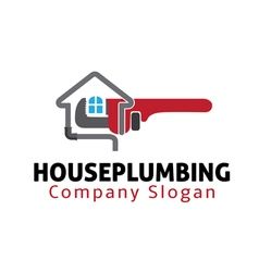 House plumbing design vector