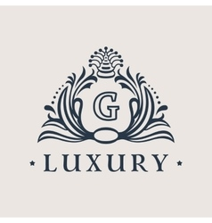 Calligraphic flourishes luxury logo template vector