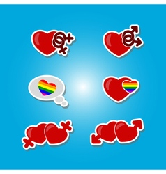 Color set with gays icons vector