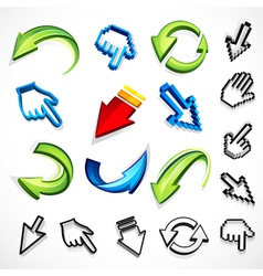 Computer arrow icons vector