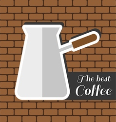 A jar of coffee with the best coffee inscription vector