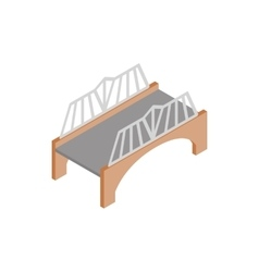Bridge with wrought iron railings icon vector