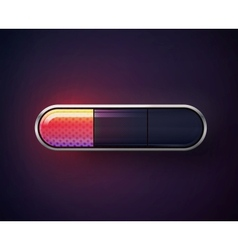 glossy navigation buttons vector image