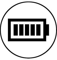 Battery level symbol - icon isolated vector image