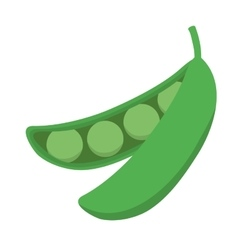 Bean icon vegetable design graphic vector