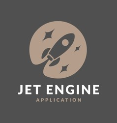 Abstract flying rocket jet engine negative space l vector
