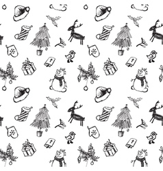 Black and white christmas vector