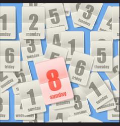 Calendar sheets seamleaa background vector image