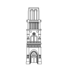 church building icon image vector image vector image