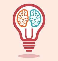 Creative left brain and right brain vector image