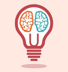 Creative left brain and right brain vector