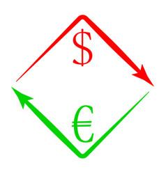 currency exchange usd eur vector image