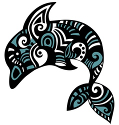 Dolphin art vector