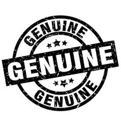 Genuine round grunge black stamp vector