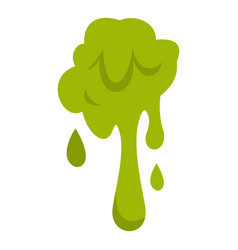 Green slime spot icon isolated vector