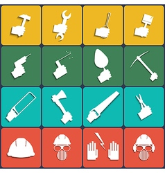 Hand tools icon set vector