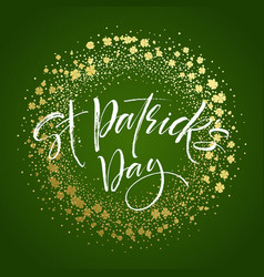 Happy saint patricks day greeting poster with vector