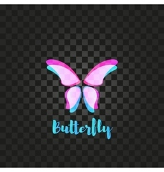 Isolated pink butterfly logo insects vector