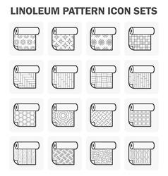 Linoleum icon vector