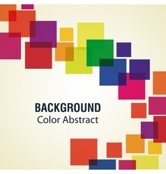 Multicolored sqaures with abstract shapes vector