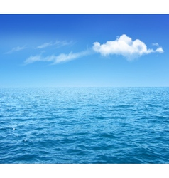 Nature Background With Blue Sea And Blue Sky With vector image