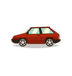red car hatchback side view gas engine alloy vector image vector image