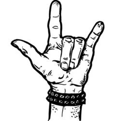 rock fist vector image