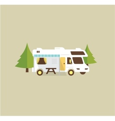 RV camping vector image vector image