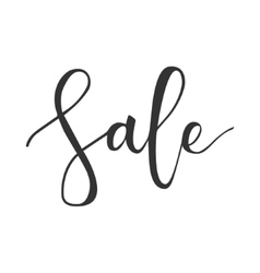 Sale hand written inscription vector image