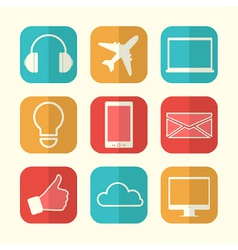 Set of paper creative icons vector image vector image