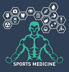 Sports medicine logo icon design vector