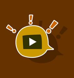 Sticker play logo icon buttonyoutube flat social vector