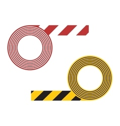 Striped tape vector image