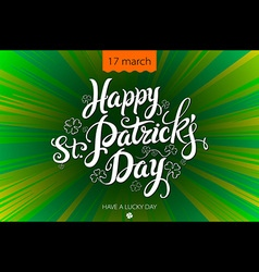 Typographic Saint Patricks Day Retro Background vector image vector image
