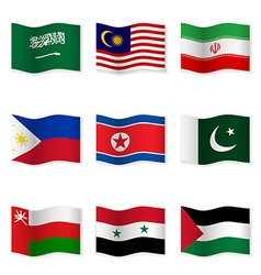 Waving flags of different countries 5 vector