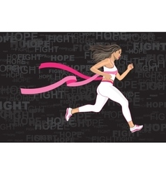 Winner running woman vector