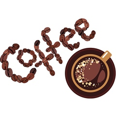 Coffee design cap and coffee bean vector